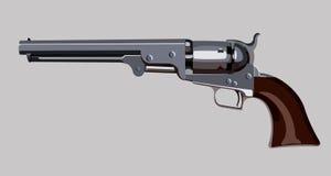 Gammal revolver Arkivfoto