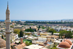 Gammal Rhodes stad Royaltyfria Bilder