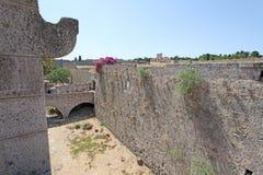 gammal rhodes town Grekland Royaltyfria Bilder
