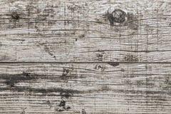 Gammal riden ut sprucken träplankayttersidatextur Arkivfoto