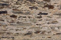 Gammal riden ut tegelstenvägg, textur, bakgrund Royaltyfri Fotografi