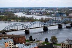 Gammal Riga stad, Lettland Arkivbild