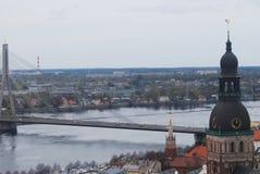Gammal Riga stad, Lettland Arkivfoto