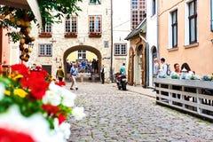 gammal riga town nordliga Europa latvia arkivfoto