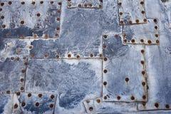 gammal rivetstextur för metall Fotografering för Bildbyråer