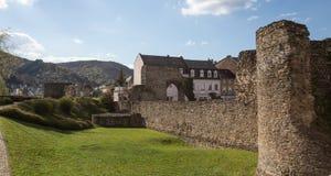 gammal roman castell boppard Tyskland fotografering för bildbyråer