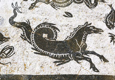 Gammal roman mosaik nästan Seville, Spanien royaltyfria bilder