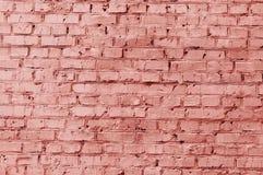 Gammal rosa tegelsten royaltyfri bild