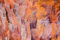 Gammal rostad korrosionsmetallyttersida fotografering för bildbyråer