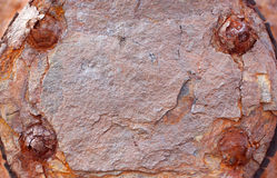 Gammal rostad metalltexturbakgrund royaltyfri fotografi