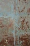Gammal rostad tinbakgrund och textur Arkivbild