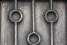 Gammal rostfritt stålplatta med smuts arkivfoton