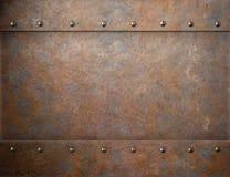 Gammal rostig bakgrund för metallångapunkrock royaltyfria bilder