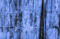 Gammal rostig blåaktig bakgrund för blåttjärnvägg Arkivfoton