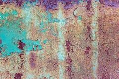 Gammal rostig grounge för metallyttersida Arkivfoton