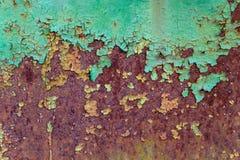 Gammal rostig grounge för metallyttersida Royaltyfria Foton