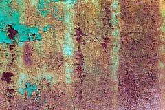 Gammal rostig grounge för metallyttersida Fotografering för Bildbyråer