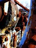 Gammal rostig maskin Fotografering för Bildbyråer