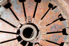 Gammal rostig metall som bakgrund fotografering för bildbyråer