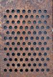 Gammal rostig metallrivjärnbakgrund Arkivfoton
