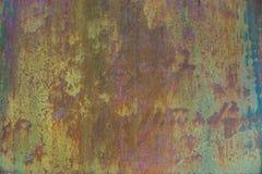 Gammal rostig metallvägg för Grunge Royaltyfri Bild
