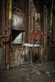 gammal rostig smältarezinc för panna Royaltyfri Fotografi