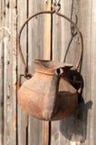 gammal rostig teapot royaltyfria foton