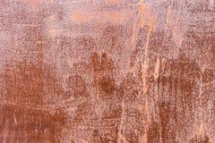 Gammal rostig textur för platta för järnmetallbakgrund Arkivfoto