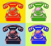 Gammal roterande telefon. Royaltyfria Bilder