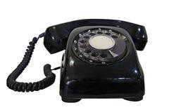 Gammal roterande telefon Fotografering för Bildbyråer