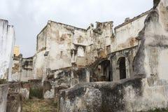 Gammal ruine från den Moura slotten Royaltyfria Foton