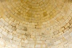 gammal rund stenvägg Royaltyfri Foto