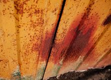 Gammal Rusty Metal Sheet Close Up textur royaltyfri foto