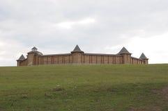 Gammal rysk träfästning Arkivbilder