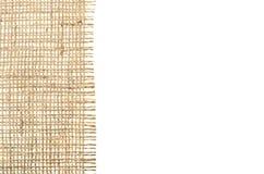 Gammal säckväv för bakgrund Begreppet av forntida saker av antiquit Arkivfoton