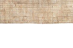 Gammal säckväv för bakgrund Begreppet av forntida saker av antiquit Royaltyfria Foton
