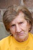 gammal SAD kvinna fotografering för bildbyråer