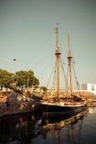 Gammal sailship royaltyfri foto