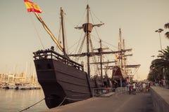 Gammal sailship royaltyfria bilder