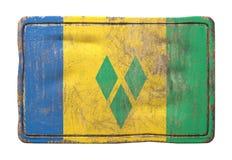 Gammal Saint Vincent och Grenadinerna flagga vektor illustrationer