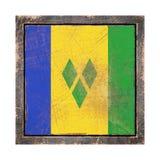 Gammal Saint Vincent och Grenadinerna flagga royaltyfri illustrationer