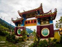 Gammal sakral buddist Kek Lok Si Temple för härligt landskap i Penan arkivbild