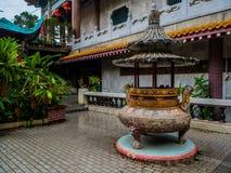 Gammal sakral buddist Kek Lok Si Temple för härligt landskap i Penan royaltyfri foto
