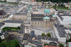 gammal salzburg town Arkivfoton