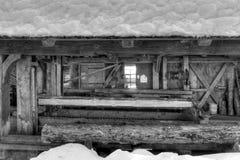 gammal sawmill arkivfoto