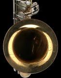gammal saxofon för detalj Royaltyfri Foto