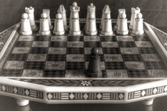 Gammal schackSet Arkivbilder