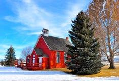 gammal schoolhouse Royaltyfria Foton