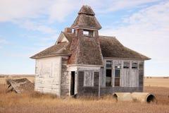 Gammal Schoolhouse arkivbild