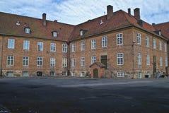 gammal schoolyardtown för fredrikstad Arkivbilder